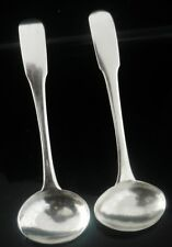 Pair Scottish Provincial Silver Salt Spoons, Alex Cameron of PERTH c.1830