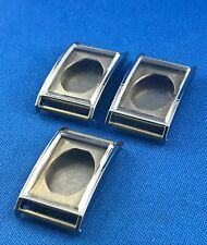 3 Pcs Unbranded Watch Case Part -Inoxydable- Swiss Made -Fond Acier- #98