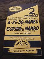 Partitura Tiene ke Mambo De Bo y Escuchad el Mambo Yvan Allouche 1952