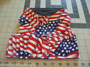Flag Flag Flag Dog Harness & Leash Fabric Handmade Carol's Crate Covers