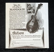 1928 OLD MAGAZINE PRINT AD, GIBSON, YOU TOO CAY PLAY A MANDOLIN, IT'S EASY, 703!