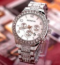 Womens Fashion Party Watch Crystal Bracelet Wrist Watch Designer With Date