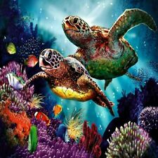 DIY 5D Diamond-Painting Embroidery Ocean Turtles Kit Art Cross Stitch Mural