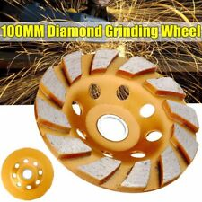 100mm Diamond Grinding Wheel Cup Sanding Disc Stone Concrete Ceramic  AB