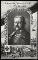 Germany WWI FRANKENSTEIN Feldpost General von Hindenburg Patriotic Portrai 67392