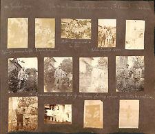 MILITARIA GUERRE WAR KRIEG 14/18  PAGES ALBUM PHOTOS VERDUN JUILLET AOUT 1916