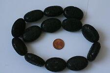20 LAVAPERLEN Edelstein Naturstein Gemstone Beads SCHWARZ 10mm KUGEL AZL20