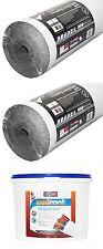 2 X Erfurt Grafito revestimiento aislante de papel + 5kg Forro Térmico Adhesivo
