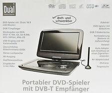 Tragbarer DVD Player 9 Zoll Spieler Dual DVD P 907 CD USB SD Portabler schwarz