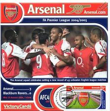 Arsenal 2004-05 Blackburn (Thierry Henry) Football Stamp Victory Card #404