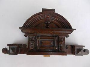 Antique Architectural Hand Made Wooden Furniture Crest/Pediment in Renaissance S