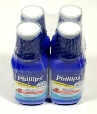 Phillips Milk Of Magnesia Laxative Strawberry 8 Fl.Oz Pack Of 4 Exp 2/20 Sealed