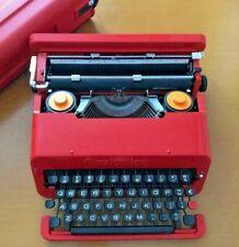 Olivetti Valentine Red Bucket Vintage Typewriter good condition FedEx