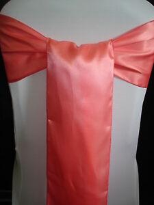 Combo Set of 50 Polyester Satin Chair sash & 10 Table Runner Wedding Party Decor