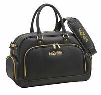 HONMA Golf Boston Bag L43xW24xH31 Black PU Leather BB1906