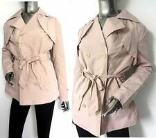 New Atmoshpere Pastel Pink Belted Lined Jacket Coat Mac UK 8,10,12,14,16 AN06