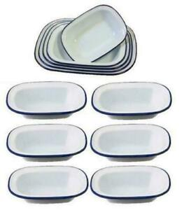 6 X FALCON ENAMELWARE PIE DISH OBLONG DISH COOKWARE OVEN BAKE WARE MANY SIZES