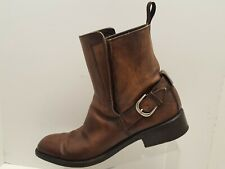 To Boot NewYork Brown Leather Buckle Boots Sz: 10.5