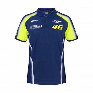 NEW Valentino Rossi 46 Moto GP YAMAHA Team Polo shirt Mens OFFICIAL