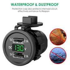 Dual USB Charger Socket Adapter Power Outlet 12V DC Car Motorcycle Waterproof