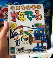 Super Nintendo Famicom SNES Ongaku Tsukuru Kanaderu Music Maker Factory Sealed
