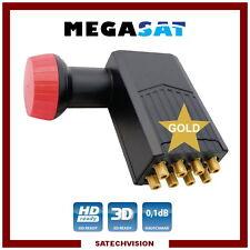LNB Octo Megasat Diavolo 0,1 dB Gain 60 dB Tête Universelle 8 Sorties Full HD