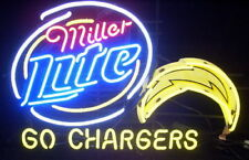 """New Miller Lite Los Angeles Chargers Beer Bar Neon Light Sign 24""""x20"""""""