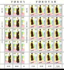 Faroer Bogen 20 Stück Michel 182 - 183  postfrisch