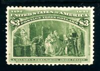USAstamps Unused VF US 1893 $3 Columbian Expo Gem Scott 243 OG MNH