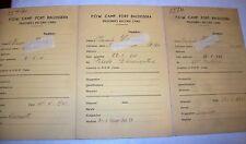 Eritrea P.O.W.Record camp card FORT BALDISSERA A.O.I.1 SCHEDA PRIGIONIERI GUERRA