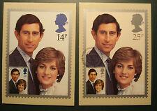 GB 1981:Cpl.Set Maximumkarte MK maximum cards  first day fdc Royal Wedding