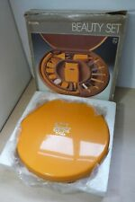 Vintage 70's Philips Boxed New. Manicure Beauty Set Round Orange Case HP2119 3A