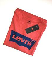 Levi's Men's Batwing Logo Crew Neck Short Sleeve T-Shirt Washed Red