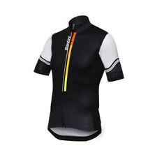 Ropa de ciclismo negro Santini, para hombre
