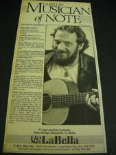 Ian Anderson original 1981 Rsm advert Musician Of Note La Bella strings