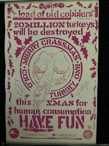 CRASS Screen - printed Merry Crassmas poster ZigZag club 1982