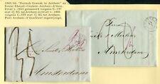 1843/46, DUITSCH GRENSK: TE ARNHEM op twee brieven Rheydt - A'dam; versch.tarief
