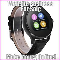 Fully Stocked SMARTWATCHES Website Business|FREE Domain|FREE Hosting|Traffic
