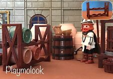 ESTANTERÍA BARRILES CUSTOM SHELF BARRELS MEDIEVAL PLAYMOBIL FIGURA NO INCLUIDA