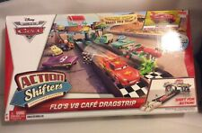 Disney Pixar Cars Flo's V8 Cafe Dragstrip Action Shifters Connectable Playsets