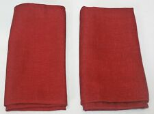 "NWOT Set of 2 Merlot Red Polyester Pair of Napkins 18.5"" Square"