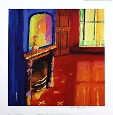 """Martin décent """"la nouvelle chambre"""" cheminée ltd ed signé! taille: 45cm x 45cm neuf rare"""