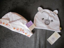 6872e27ec6f 2 NEW BABY HATS DISNEY BABY AT PRIMARK 12-18 MONTHS COTTON BONNETT AGE 3