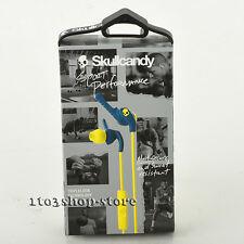 Skullcandy XTplyo Sport In-Ear Buds Earphones Headphones w/Mic Navy Blue Yellow