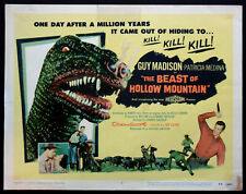 THE BEAST OF HOLLOW MOUNTAIN GUY MADISON SCIENCE FICTION 1956 TITLE CARD