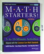 Math Starters Common Core Math Standards By Muschla 2013 Grade 6 -12 LOT J137
