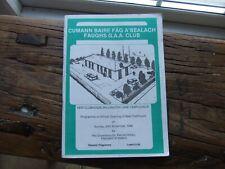Irish Gaelic GAA Programme Dublin Faughs Templeogue