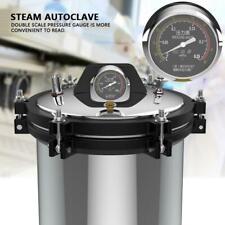 18L High Pressure Steam Autoclave Sterilizer Equipment XFS Dual Heating 220V 2KW