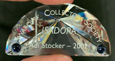 Swarovski Crystal Nameplate Plaque Scs Adi Stocker 2002 Isadora Perfect Cond