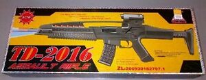 TD2016 Kids Toy Military Assault Rifle Gun with Flashing Lights Sound Vibration